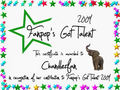 Chandlerfan Certificate - fanpops-got-talent photo