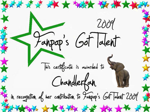 fanpop's got talent wallpaper titled Chandlerfan Certificate