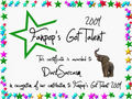 Darksarcasm Certificate - fanpops-got-talent photo