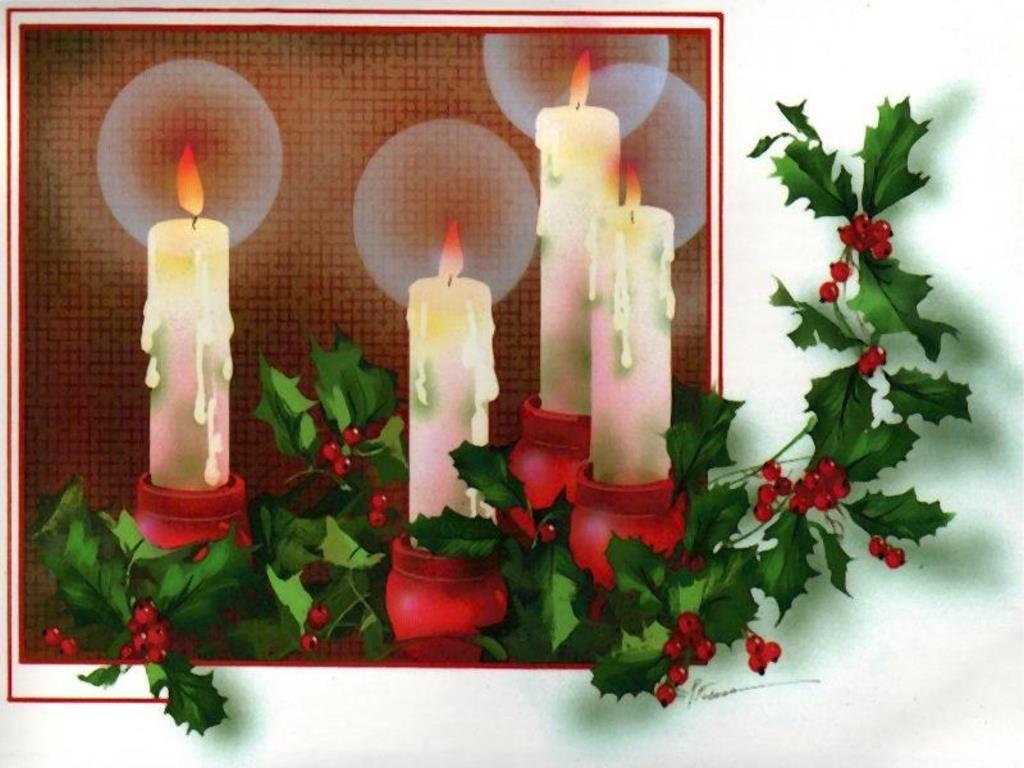 Christmas candles christmas wallpaper 7224816 fanpop for Christmas candle displays
