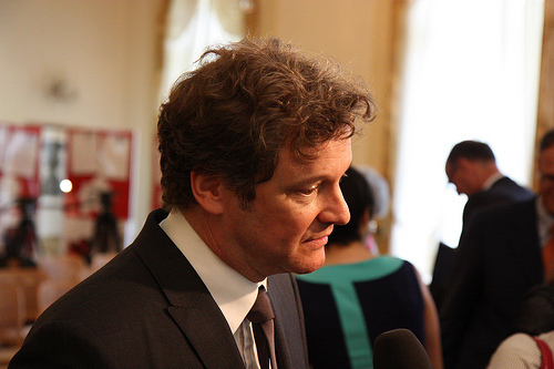 Colin Firth at G8 Summit Leader Letter écriture Awards