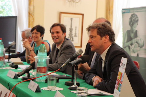 Colin Firth at G8 Summit Leader Letter Writing Awards