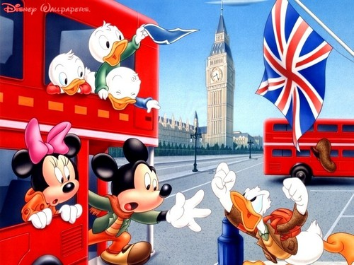 "Classic Disney wallpaper probably containing a street and a business district called ""Wait For Me"" !"