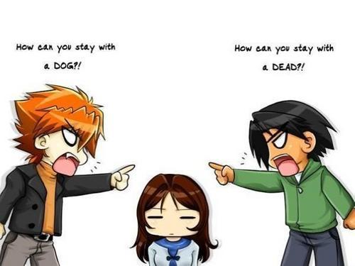 Edward, Bella, and Jacob