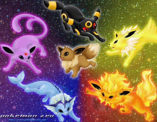 Eevee Evolutions Clan wallpaper titled Eevee Evolutions Charts