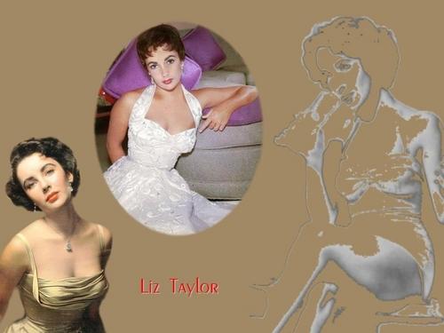Elizabeth Taylor karatasi la kupamba ukuta containing a bridesmaid titled Elizabeth Taylor karatasi la kupamba ukuta