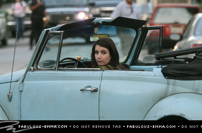 Emma Roberts On The Set.