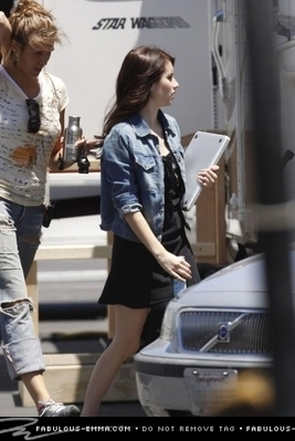 Emma Roberts On The Set.