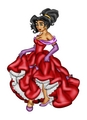 Esmeralda in a Prom Dress