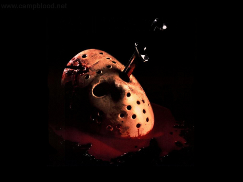 sinema ya kutisha karatasi la kupamba ukuta called Friday the 13th part 4