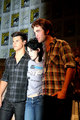 HQ,  The 'New Moon' threesome at the SDCC press conference - handsomes - twilight-series photo