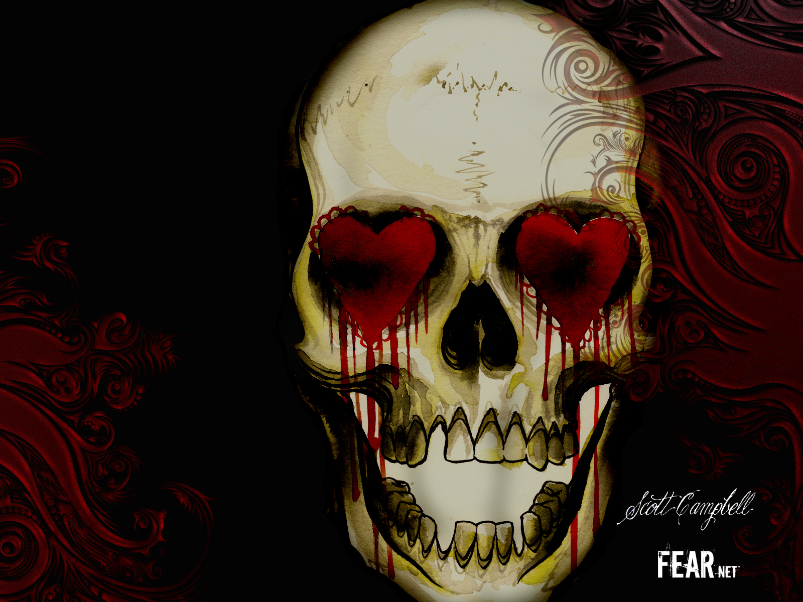 Horror Movies Heart Skull