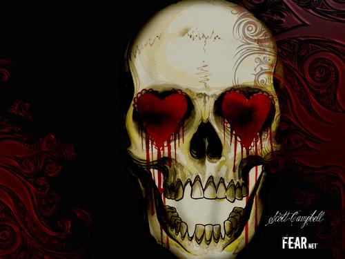 hati, tengah-tengah Skull