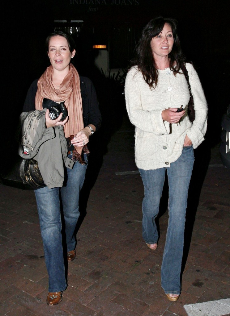Holly and Shannen leaving Nobu Resturant April 15th 2008