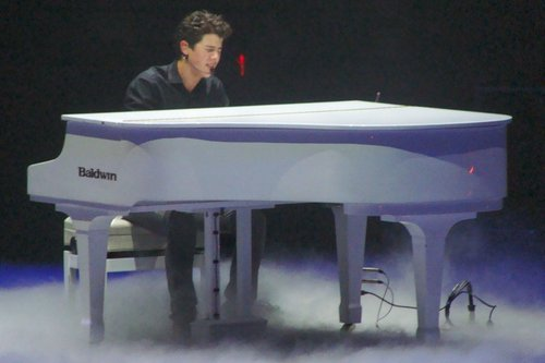 The Jonas Brothers wallpaper containing a grand piano and a concert grand called JB World Tour 2009