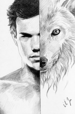 Jacob as a half werewolf