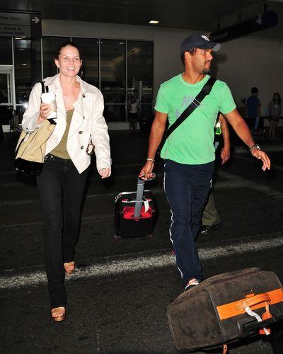 Jennifer Morrison and Amaury Nolasco – LAX Airport – July 12,2009