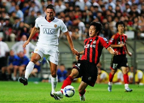 Manchester United 바탕화면 containing a 풀백 called Manchester United vs. FC Seoul - July 23th, 2009