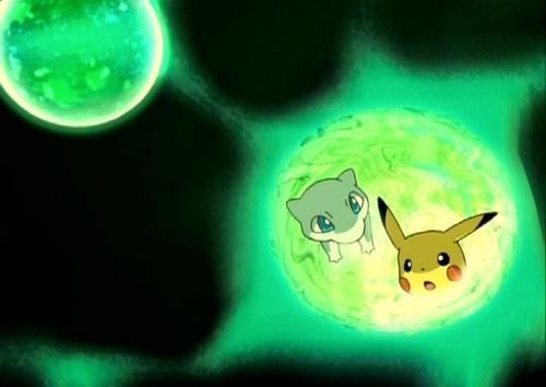 Mew with Pikachu