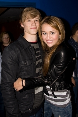 Miley Cyrus and Lucas Till
