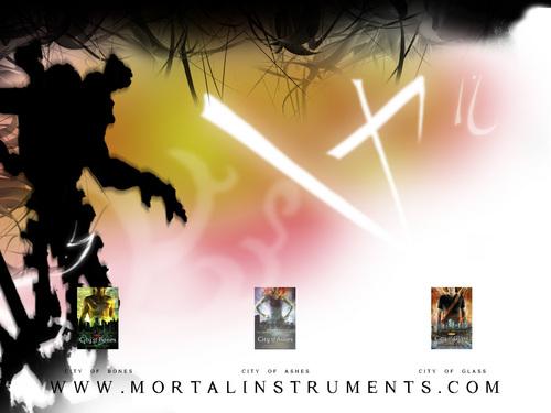 Mortal instruments Стена paper
