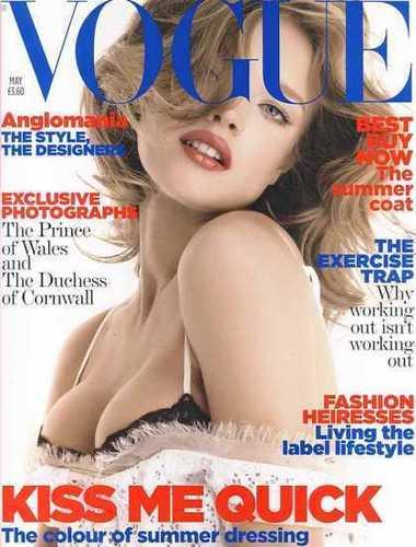 Natalia: British Vogue May 2006