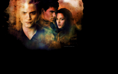 Twilight Series wallpaper possibly containing a fire and anime titled New Moon Wallpaper