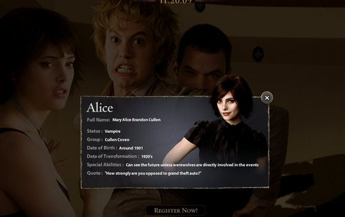 New Moon Website Screencaps