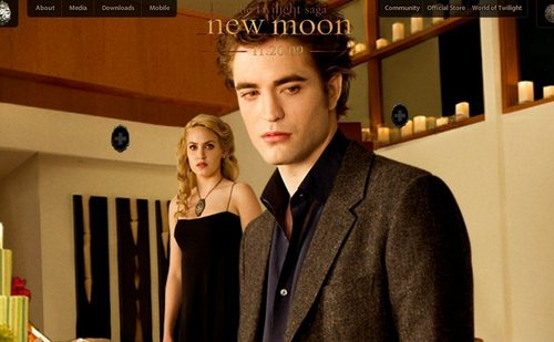 New Moon Website Screenshots