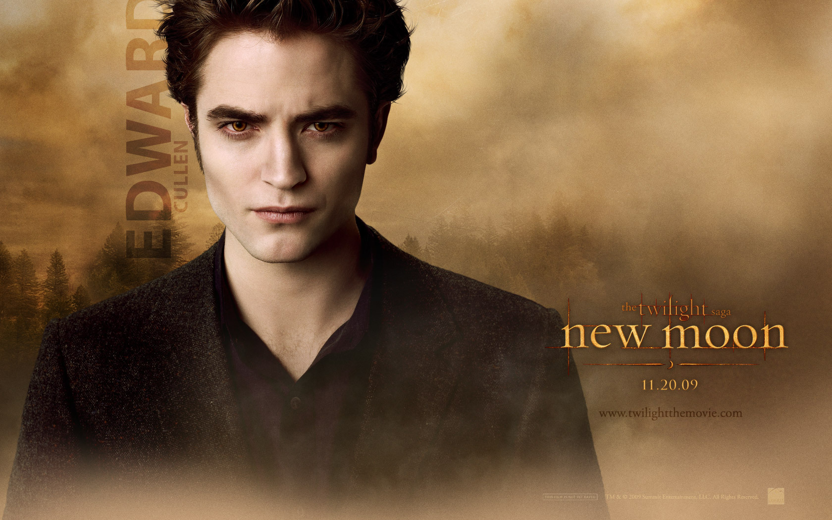 new moon edward cullen wallpaper 7245073 fanpop