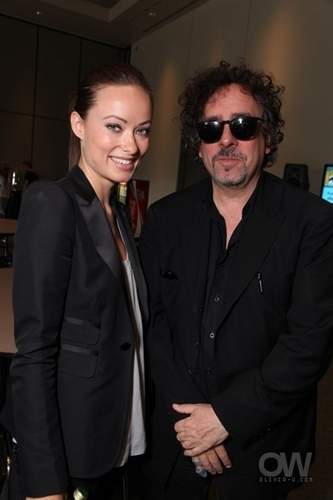 Olivia, With Tim burton @ Comic Con 2009