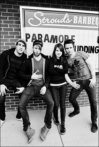 Brand New Eyes wallpaper probably with a sign entitled Paramore