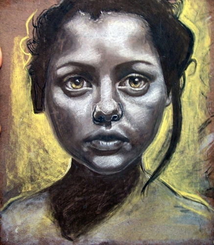 Pastel Drawing of Christina Ricci