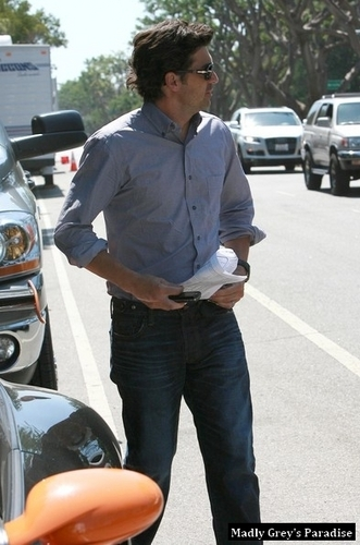 Patrick Dempsey leaving the set