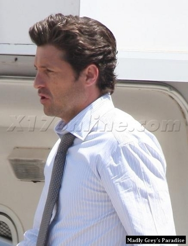 Patrick Dempsey on the Set of Valentine's giorno