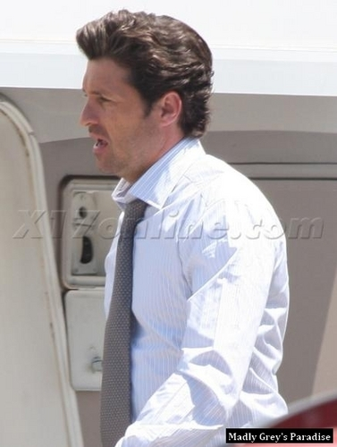 Patrick Dempsey on the Set of Valentine's 일