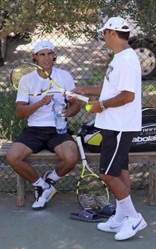 Rafael Nadal training in Spain