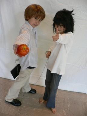 Raito and Eru Baby Cosplay :0