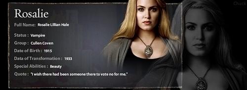 Rosalie's 个人资料 Banner