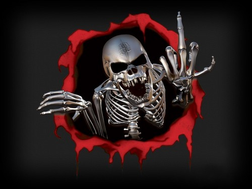 Rude Skull - horror-movies Wallpaper