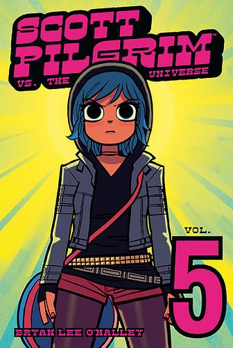 Scott Pilgrim achtergrond containing anime titled Vol.5 Scott Pilgrim vs. The Universe