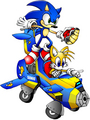 Sonic and Tails flying