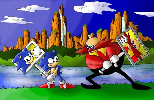 Gambar Kartun Sonic Knuckles: The Old Sonic Gambar Sonic Vs Eggman HD Wallpaper And