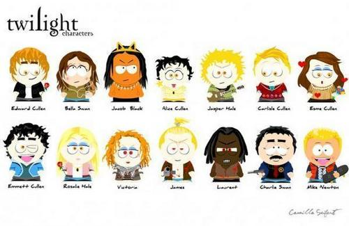 South Park Twilight Characters