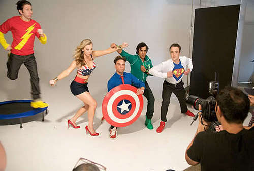 The Big Bang Theory wallpaper entitled TBBT TvGuide cover shoot.