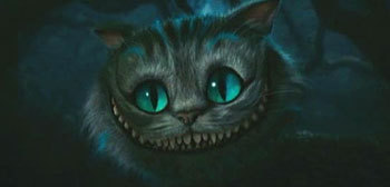 Alice in Wonderland (2010) kertas dinding titled The Cheshire Cat from Tim Burton's 'Alice In Wonderland'