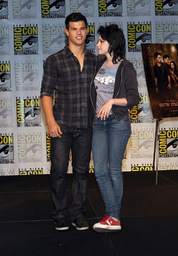 The 'New Moon' threesome at the SDCC press conference