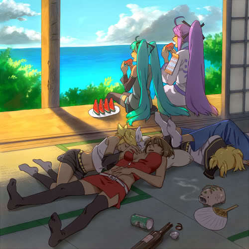 They seem tired.(except Miku and Gakupo)