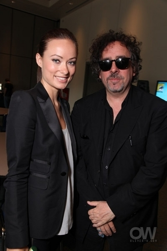 Tim Burton, With Olivia Wilde @ Comic Con 2009