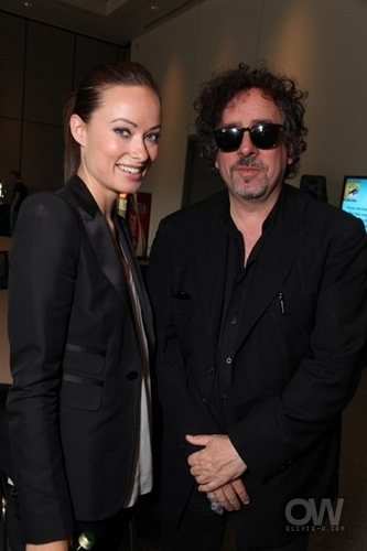 Tim Burton, With Olivia Wilde @ Comic Con 2009